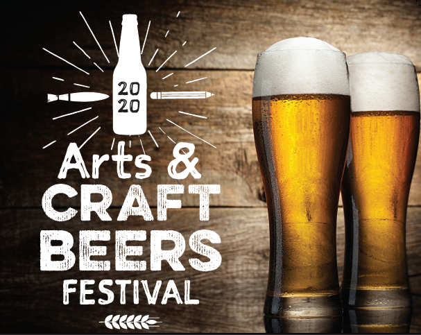 Image of 2 full beer glasses with event title