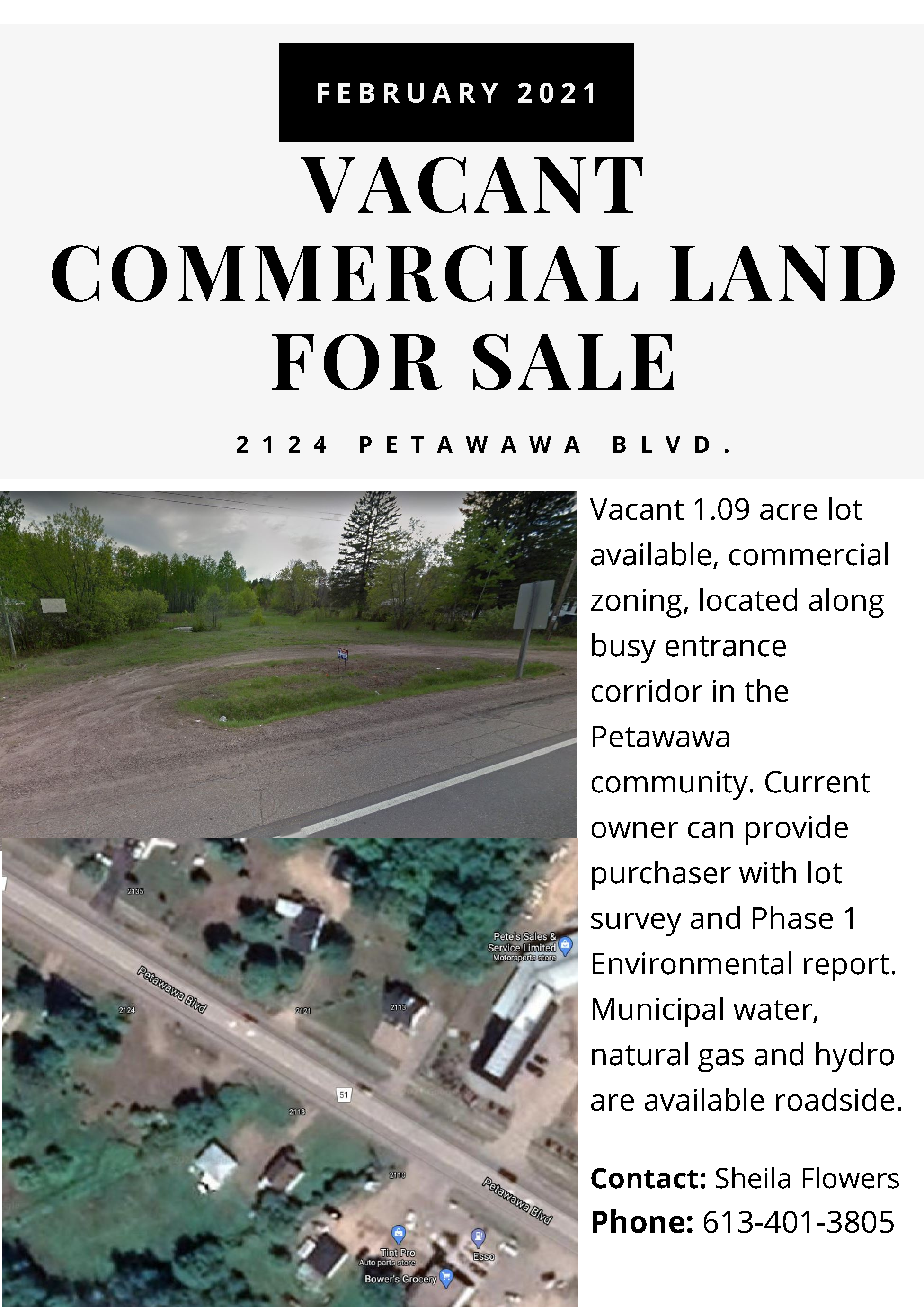 A sales advertisement for 2124 Petawawa Blvd.
