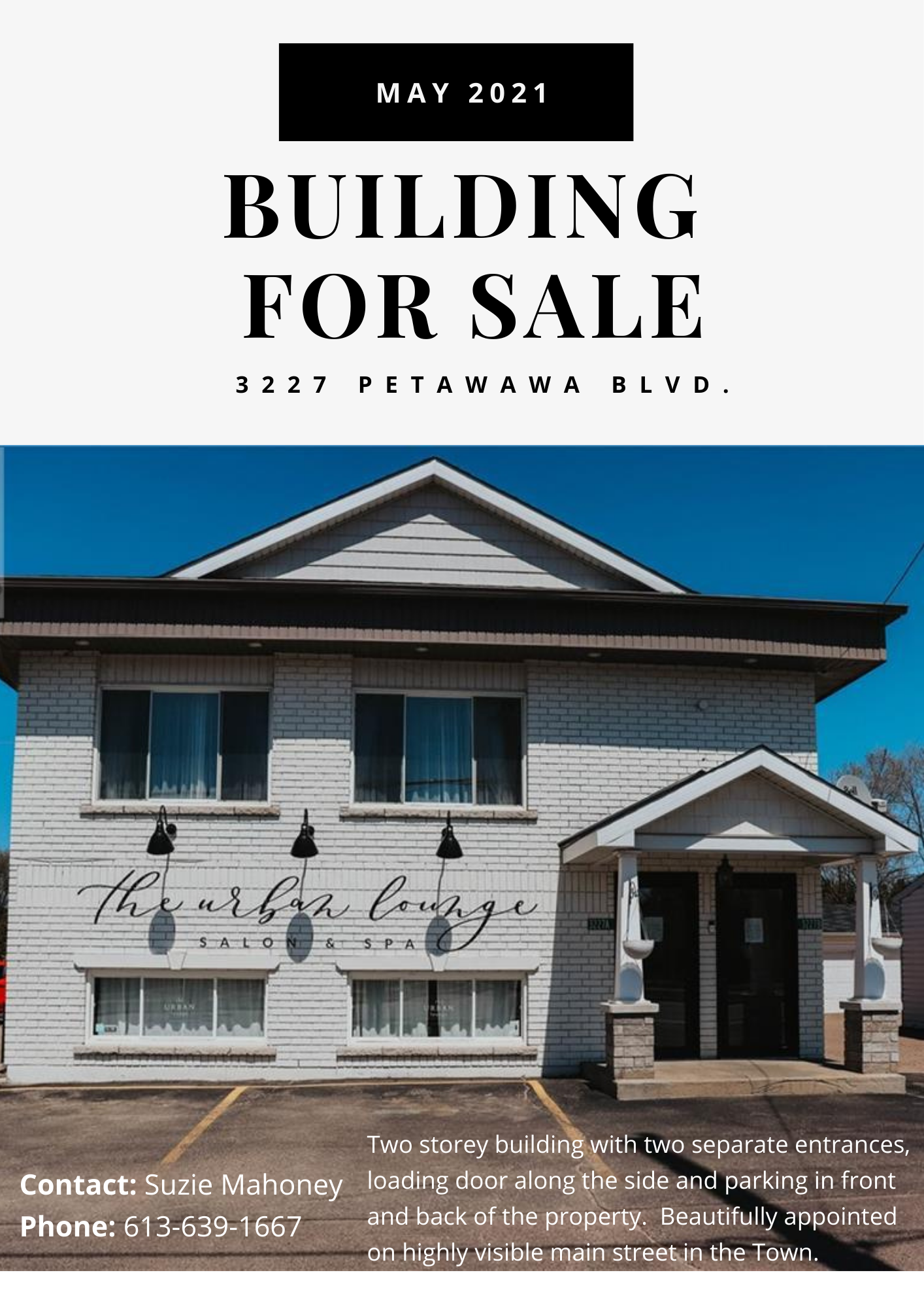 a sales listing for a commercial building in Petawawa