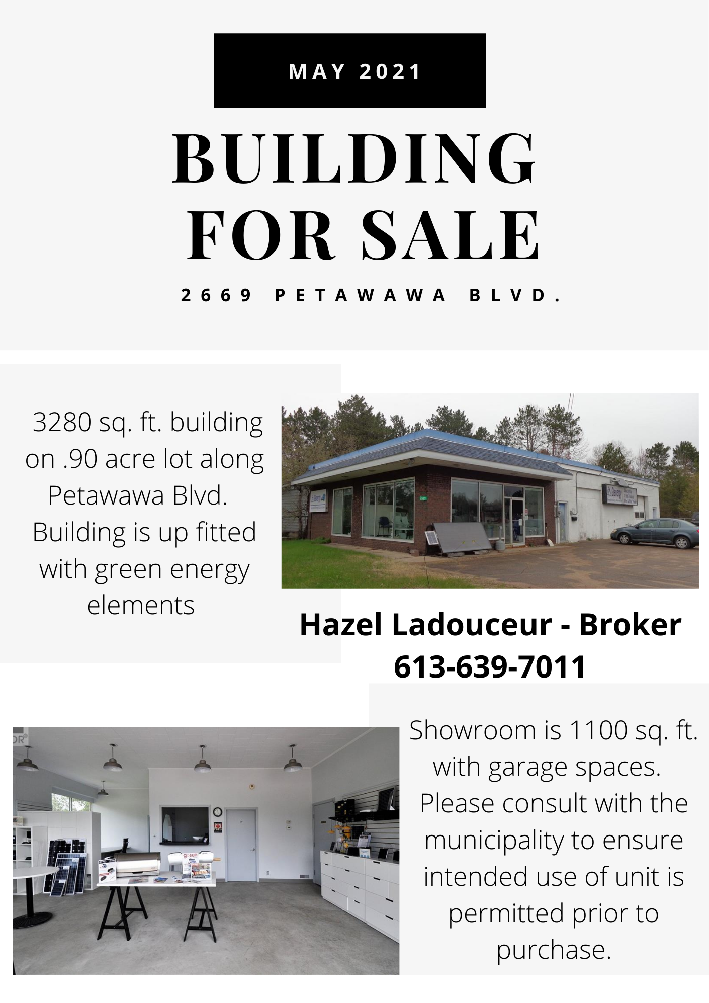 a sales listing for a commercial property in Petawawa.