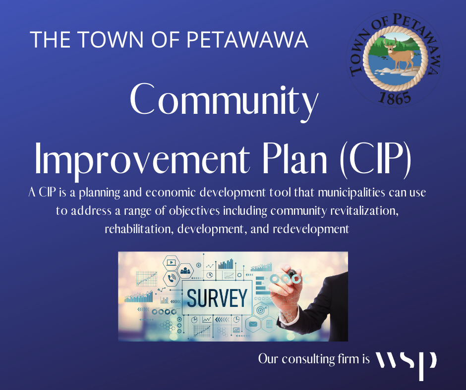 a graphic about the Community Improvement Plan community survey