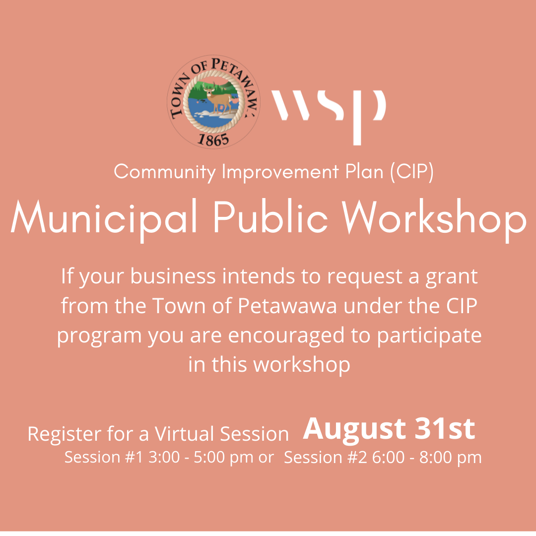 A graphic of information about the CIP Public Municipal Workshop