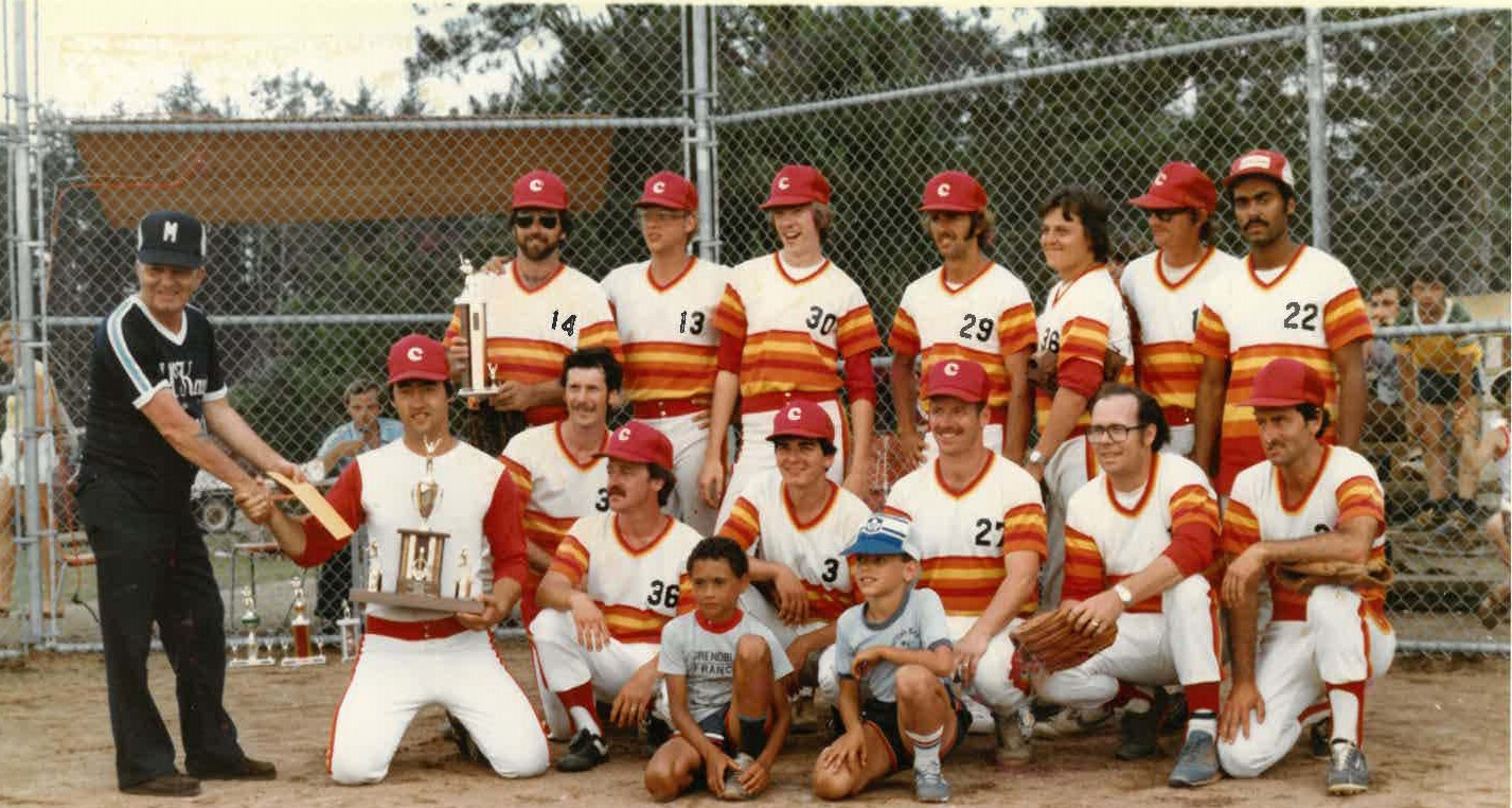 A men's baseball team image