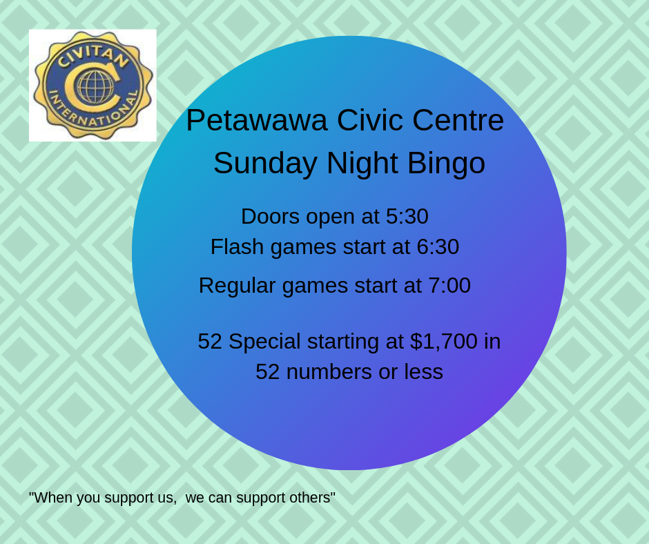 Civitan Club logo and bingo information (same as website page)