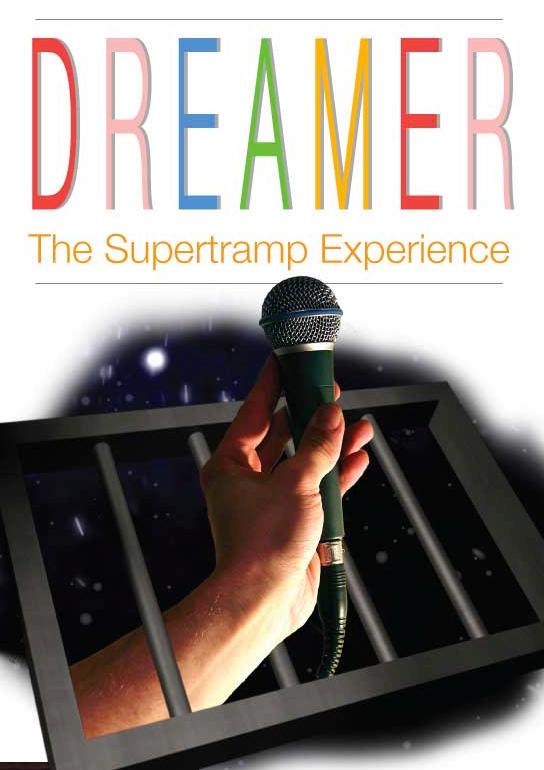 dreamer supertramp poster of hand with microphone