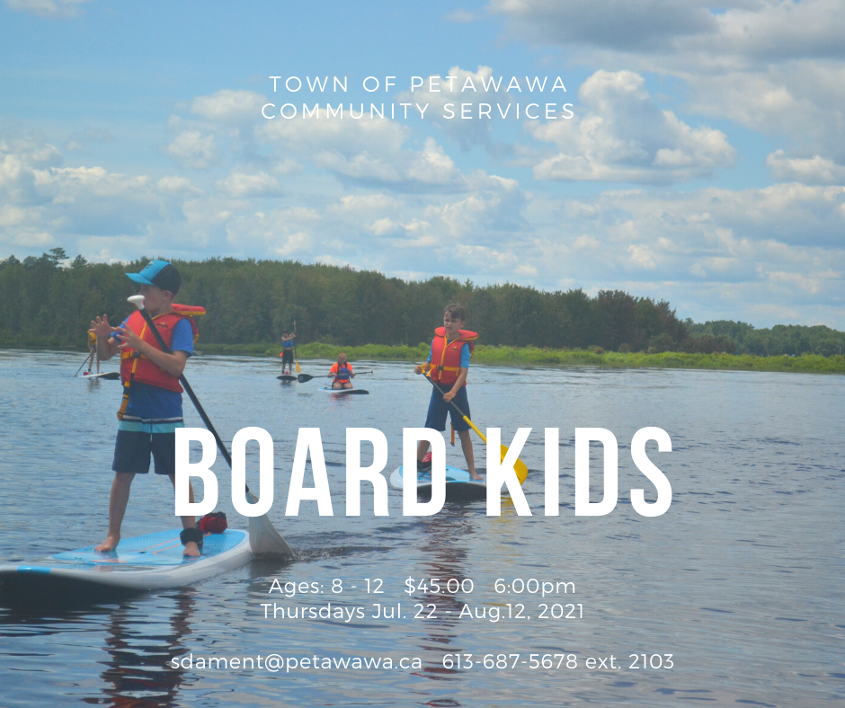 Kids stand up paddleboarding on the ottawa river