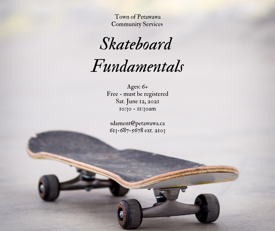 Poster with a skateboard photo