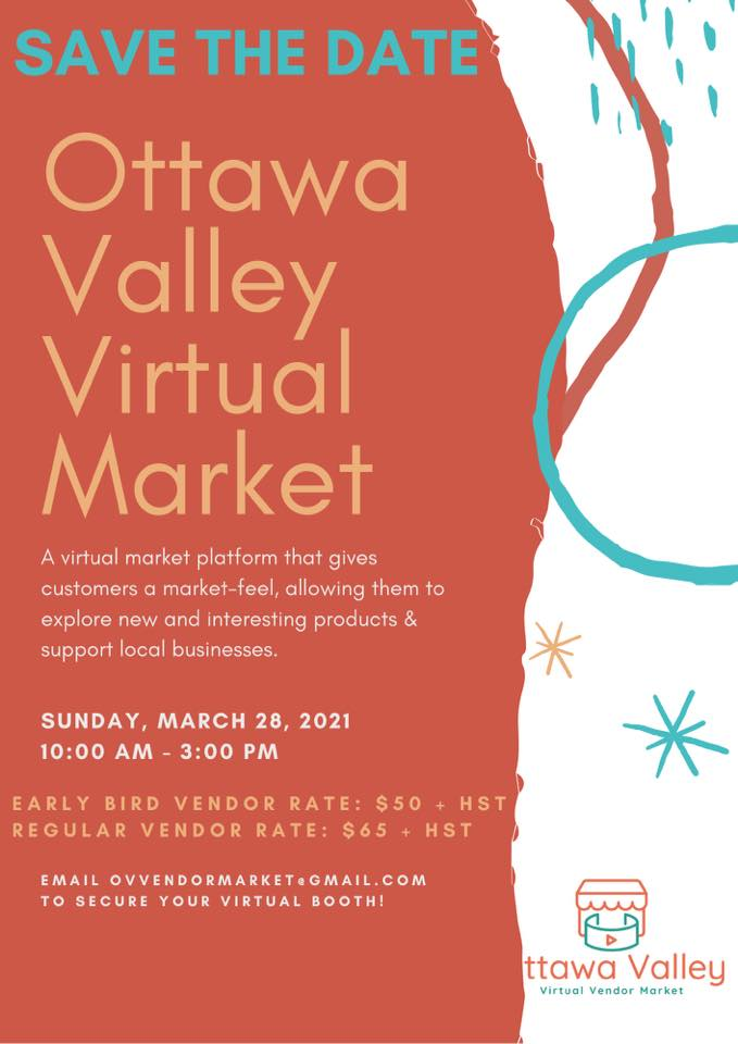 an info graphic announcing the Ottawa Valley Vendor Market