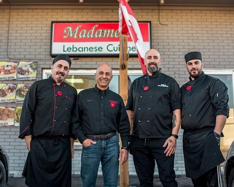 Four family men, owners of Madameek Petawawa restaurant