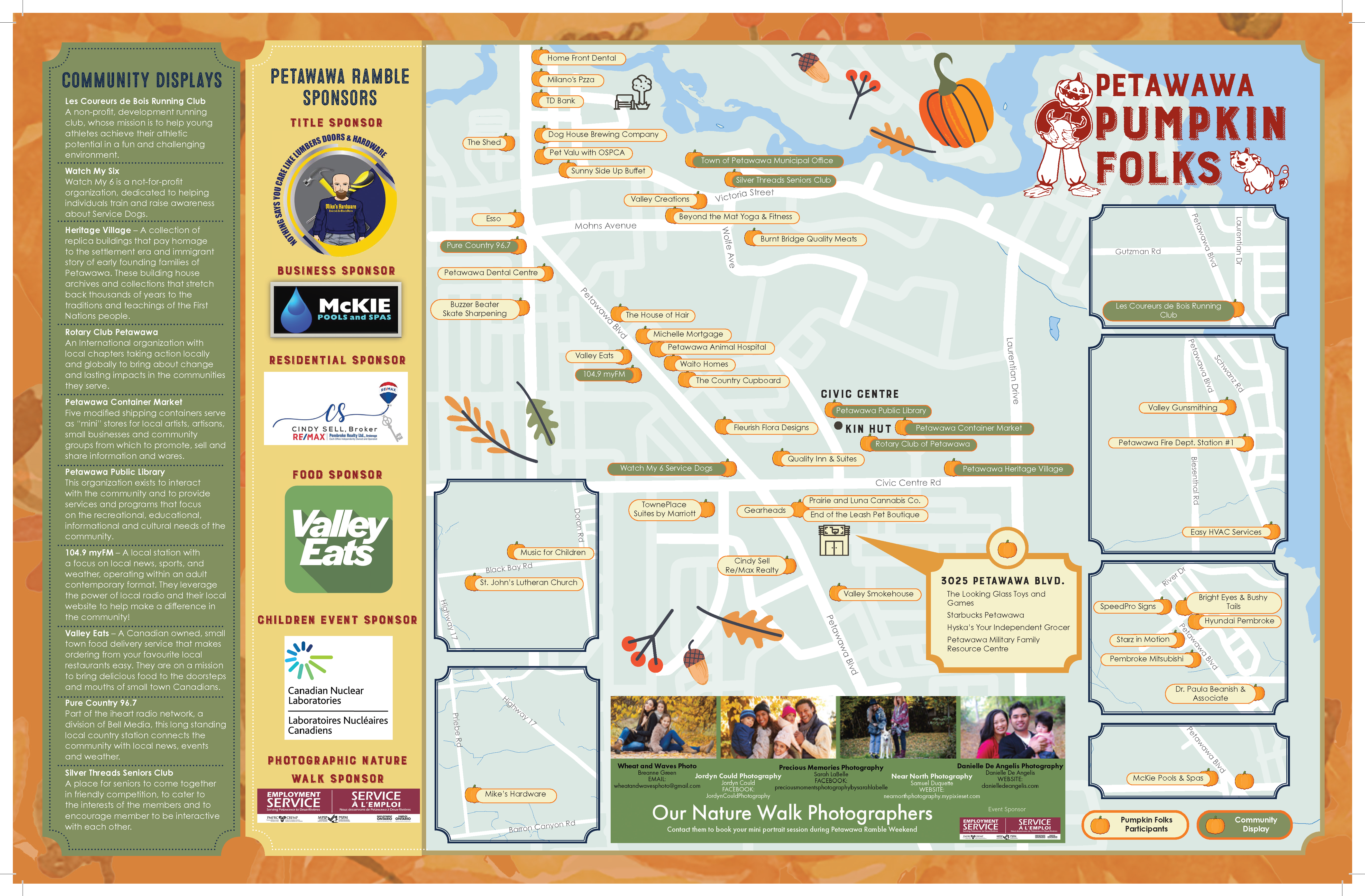 2021 Petawawa Ramble Map inside pages