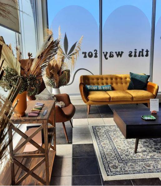 an interior view of the Prairie and Luna Cannabis Co. lounge