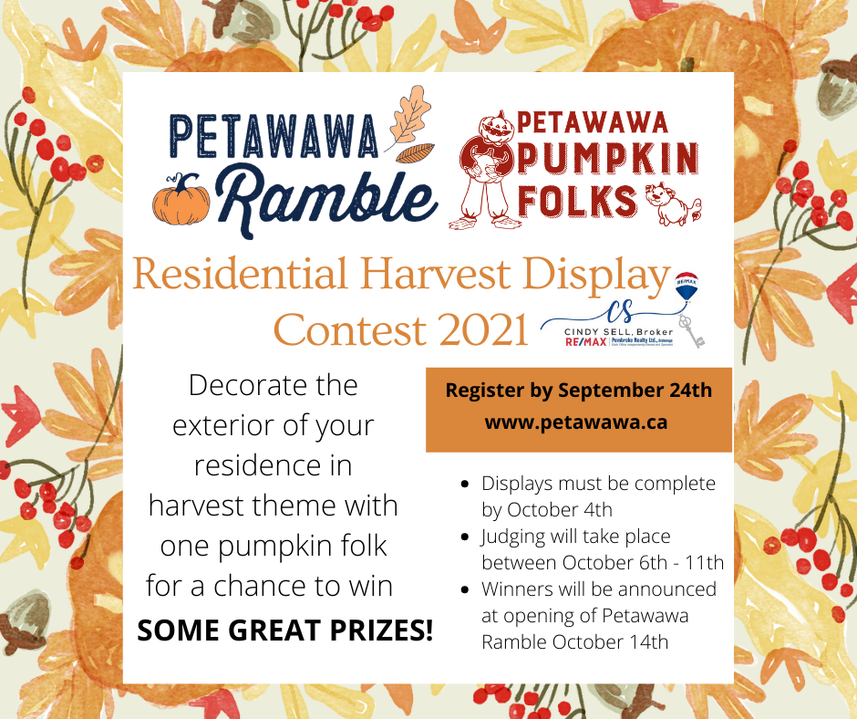 A graphic on the details of the Residential Harvest Display Contest