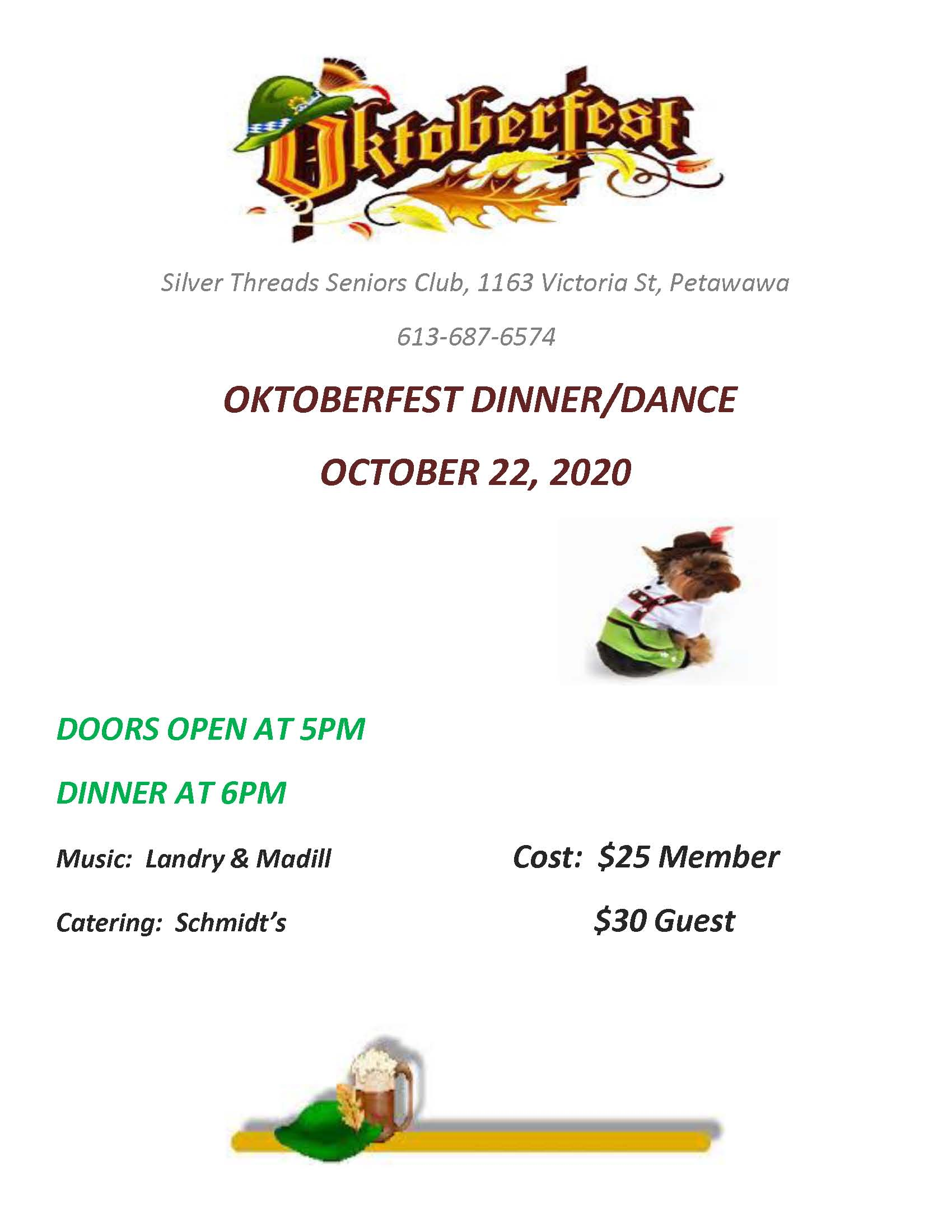 Image of Oktoberfest dinner and dance poster