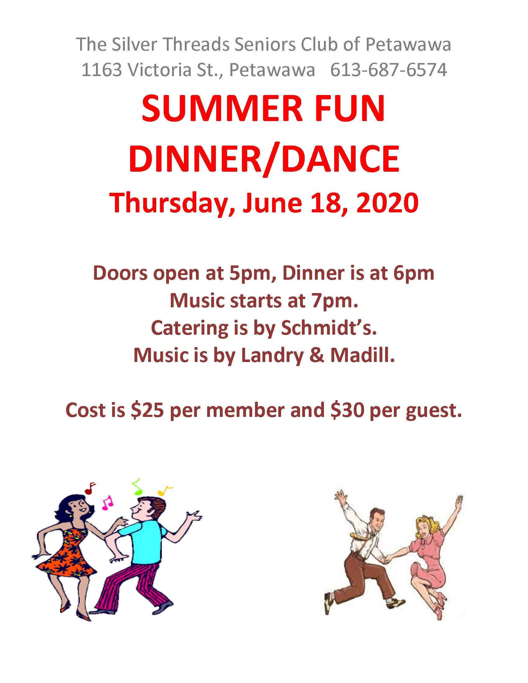 Image of dinner and dance poster