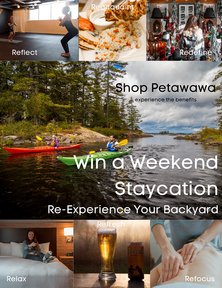 a variety of tourism assembled images conveying local Petawawa businesses and services