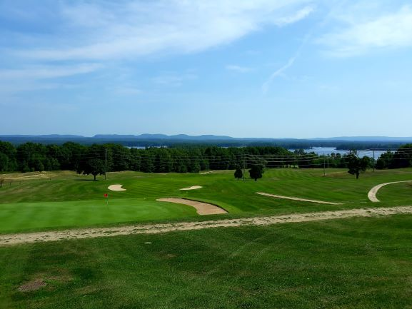 Image of Petawawa Golf Club fairway with Ottawa River in background