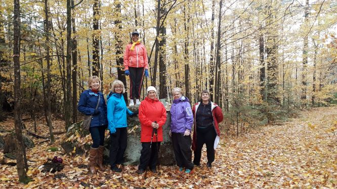 Image of women's walking group on a fall day at the Terrace
