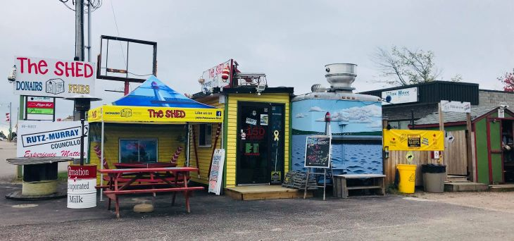 Image of The Shed, a local eatery in Petawawa