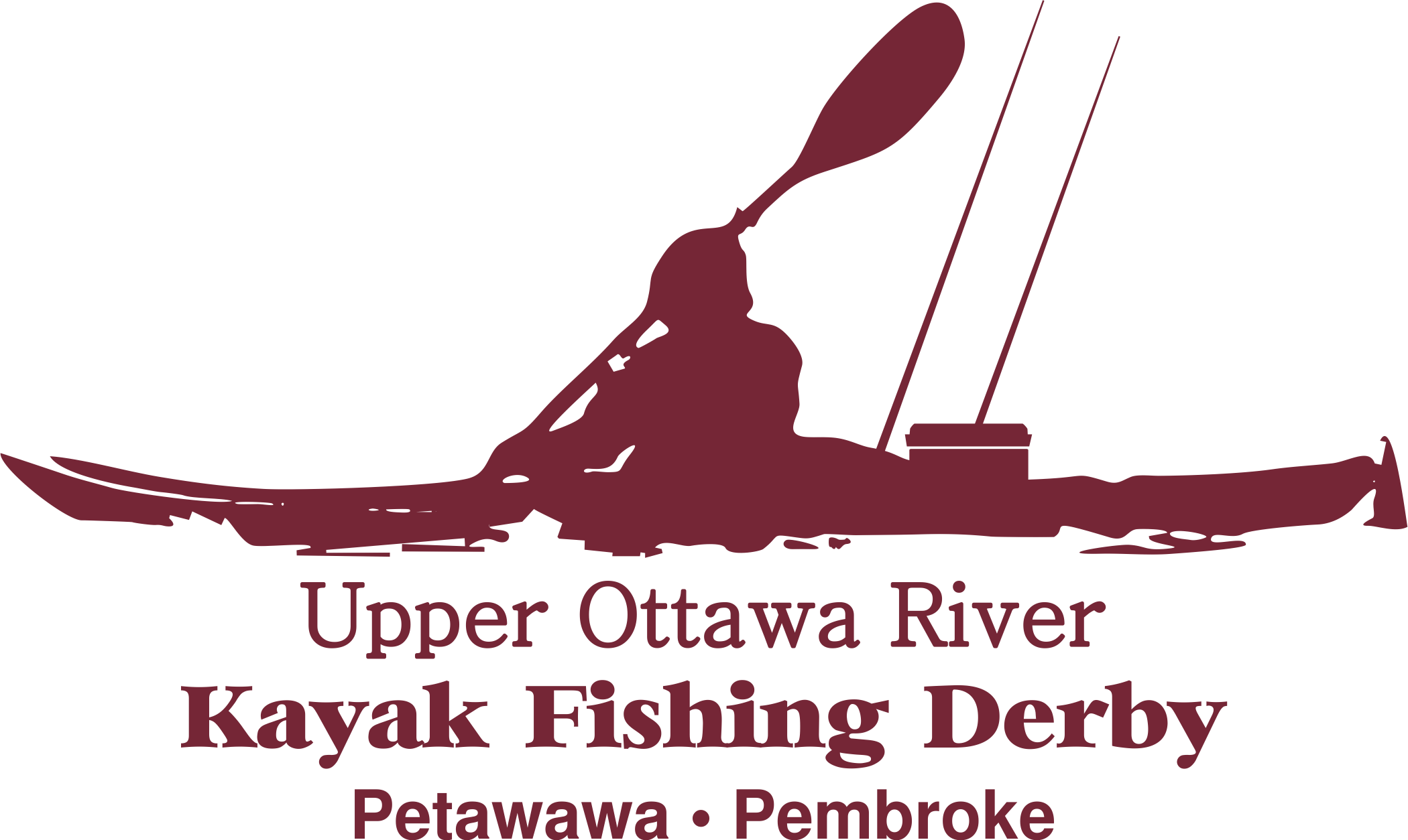 Image of a fishing kayaker