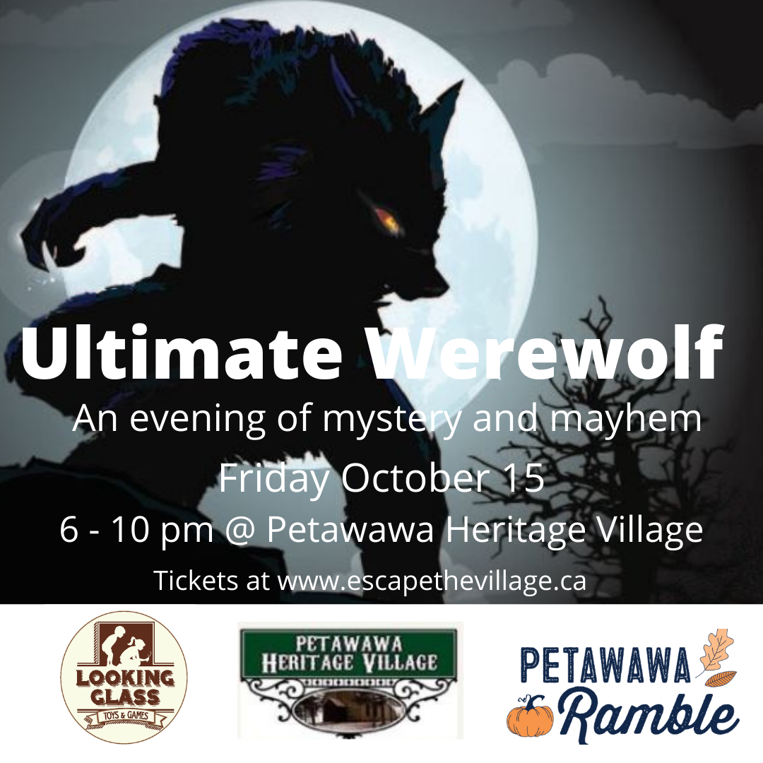 A werewolf full moon visual details on Ultimate Werewolf event