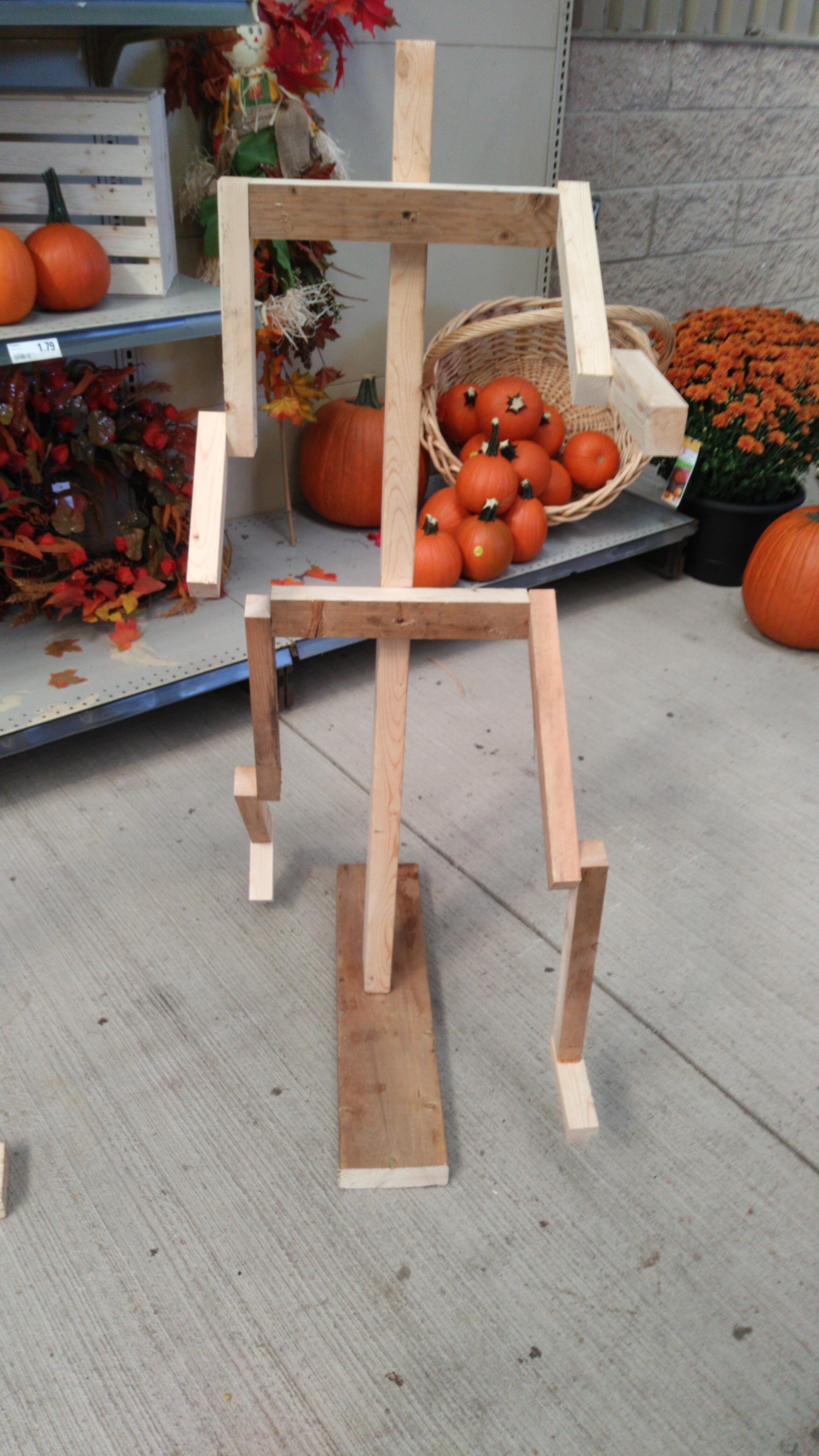 an articulating pumpkin person frame image
