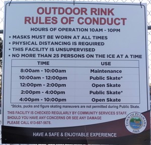 <b>2021 Outdoor Ice Rink Schedule & Rules</b>
