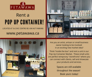 <b>Rent a Pop Up Container Unit graphic</b>