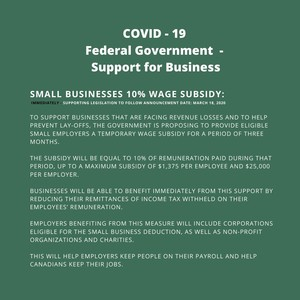 <b>Poster of Small Business Wage Subsidy info</b>