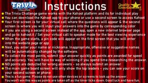 <b>Virtual Trivia Instructions</b>