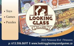 <b>Looking Glass Toys & Games PR ad</b>