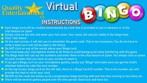 <b>Virtual Bingo Instructions</b>