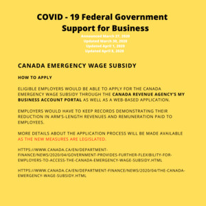 <b>Poster of Canada Emergency Wage Subsidy 2</b><br />Poster of Canada Emergency Wage Subsidy 2