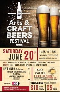 <b>2020 Arts & Craft Beers Festival poster</b>