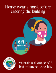 <b>Please wear a Mask or Face covering before entering the building</b>