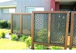 a screened fence