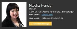 Nadia Pardy, Real Estate Broker